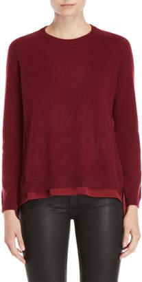 D'demoo Chiffon Back Sweater
