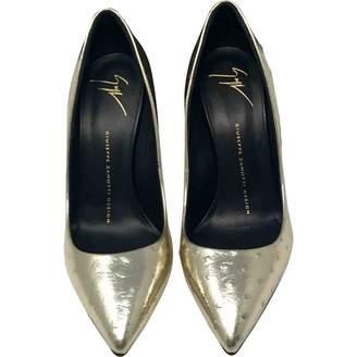 Giuseppe Zanotti Gold Ostrich Heels