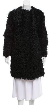 J. Mendel Knee-Length Shearling Coat