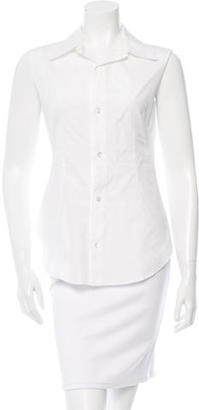 Yohji Yamamoto Sleeveless Button-Up Top w/ Tags $195 thestylecure.com