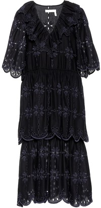 See by Chloe Embroidered cotton dress
