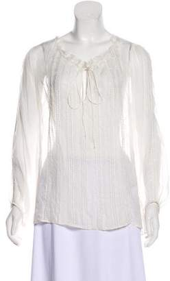 Alice + Olivia Sheer Embroidered Blouse w/ Tags