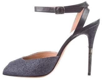Maison Margiela Glitter Ankle Strap Sandals