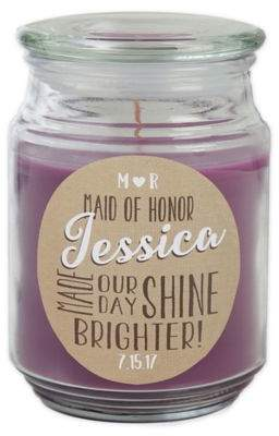 My Bridesmaid Scented Candle Jar