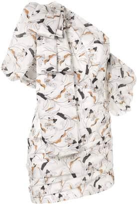Acler Maves floral one shoulder dress