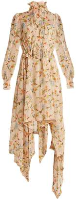 Preen by Thornton Bregazzi Martha floral-print silk-georgette dress