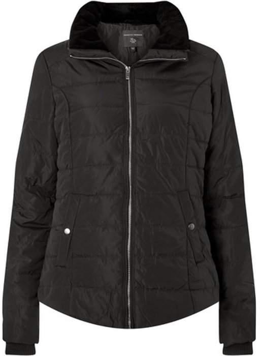 Womens **Tall Black Faux Fur Collar Jacket