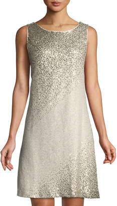 Eliza J Sleeveless Sequin A-line Cocktail Dress