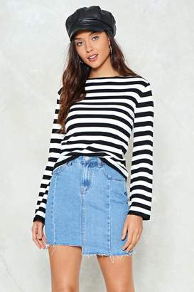 Nasty Gal Don't Uneven Go There Denim Skirt