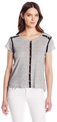 Calvin Klein Jeans Women's Short Sleeve Lace Inset T-Shirt