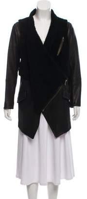 Yigal Azrouel Shearling Convertible Jacket