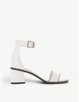 Dune Black Julietta mid-block studded heels