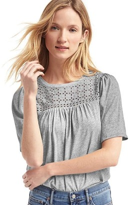 Eyelet lace half-sleeve tee $34.95 thestylecure.com