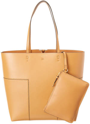 Tory Burch Block-T Leather North/South Tote