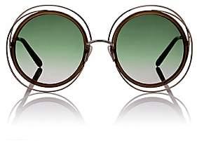 Chloé Women's Carlina Sunglasses-Olive, Gold