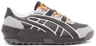 Asics Onitsuka Tiger Big Logo Leather And Suede Trainers - Mens - Black