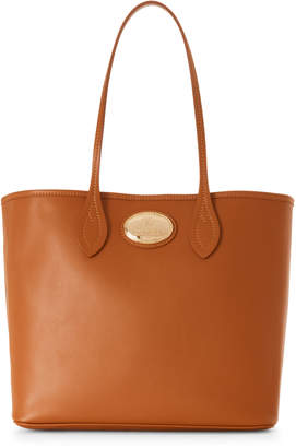 Roberto Cavalli Cognac Leather Shopping Tote