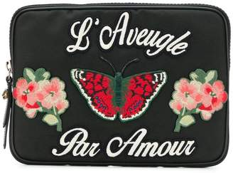 Gucci embroidered tablet cat
