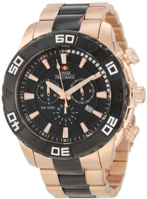 Rosegold Swiss Precimax Men's SP12055 Valor Elite Dial with Rose-Gold Stainless-Steel Band Watch