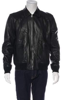 Saint Laurent Leather Zip Jacket
