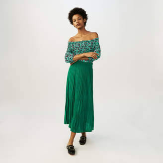 Maje Long pleated skirt