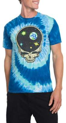 Music Grateful Dead Space Skull Men's Graphic T-shirt, up to Size 2XL