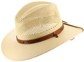 Stetson Ultrafino Outback Vented Mens Straw Panama Hat 7 5/8