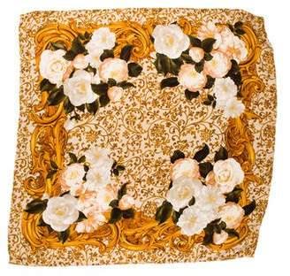 Chanel Camellia Silk Scarf