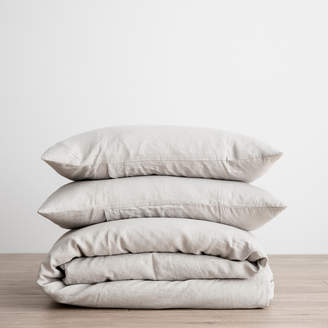 Lulu & Georgia Cultiver Linen Bedding, Smoke Grey Duvet Set