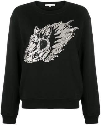 McQ Flame bunny embroidered sweatshirt
