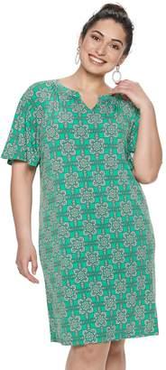 Dana Buchman Plus Size Raglan Shift Dress
