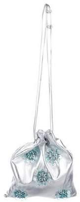 Miu Miu Embellished Metallic Leather Bucket Bag