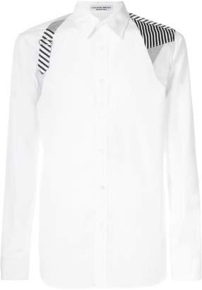 Alexander McQueen shoulder patch shirt