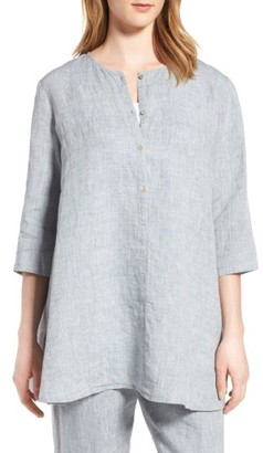 Women's Eileen Fisher Organic Linen Tunic $218 thestylecure.com