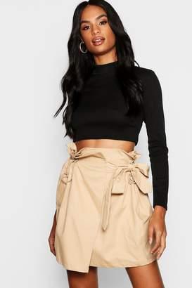 boohoo Tall Toggle Utility Pocket Skirt