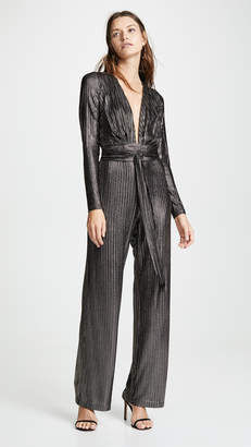 Melissa Odabash Metallic Striped Jumpsuit