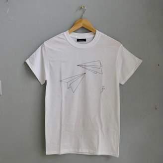 Co Acies White Origami Plane T Shirt