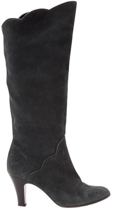 Marc Jacobs Grey Suede Boots