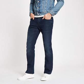River Island Dark blue Clint bootcut stretch jeans