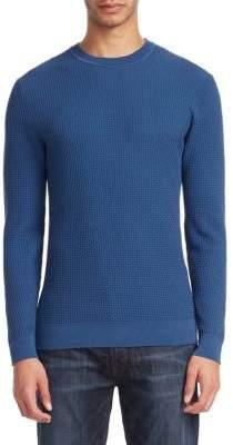 Emporio Armani Textured Crewneck Sweater