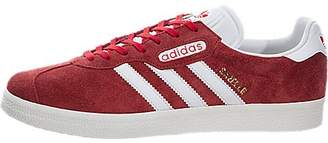 adidas Men's Gazelle Super Originals Red/Vinwht/Goldmt Casual Shoe 11.5 Men US