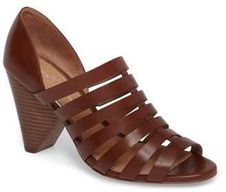 Linea Paolo Pierce Chisel Heel Caged Sandal