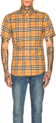 Burberry Vintage Check Shirt in Antique Yellow Check | FWRD