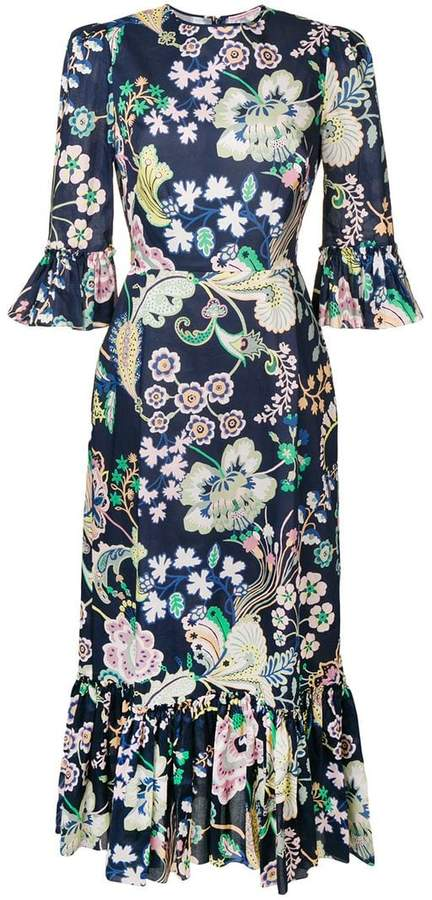The Vampire's Wife floral print long dress