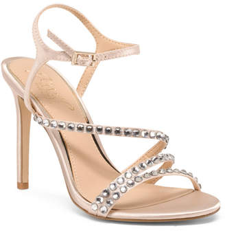 ad3c6675263d Champagne Ankle Strap Heels - ShopStyle