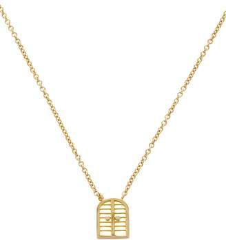 Brent Neale Yellow Gold Mini Door Pendant Necklace