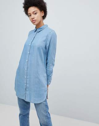 Selected Longline Denim Shirt