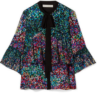 Mary Katrantzou Milana Pussy-bow Printed Silk-georgette Shirt - Blue