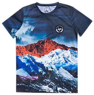 Hype Boys' Mountain Print T-Shirt, Blue/Multi