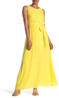 Sharagano Solid Chiffon Maxi Dress